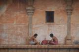 Lunch Break at Brihadeeswarar Temple