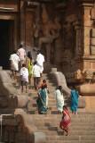 Pilgrims on Steps of Brihadeeswarar Temple