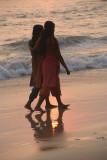 Girls Walking Together at Sunset Varkala