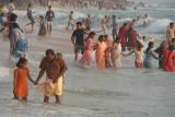 Indians Having Fun in the Sea Varkala