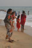 Indian Families at Varkala 02