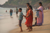 Indian Family at the Waters Edge Varkala