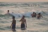 Indian men in the Sea Varkala