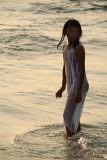 Wet Girl in White Varkala