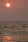Fishing Boats on the Horizon at Sunset Varkala