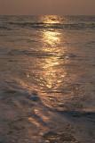 Frothing Sea at Sunset Varkala