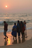 Indian Family at the Waters Edge Varkala 02