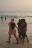 Indian Girls at Varkala Beach