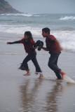 Running from the Waves Varkala