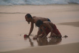 Playing in the Wet Sand Varkala