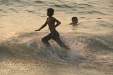 Running into the Sea Varkala