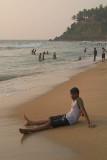 Sitting on the Beach Varkala
