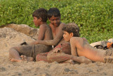 Three Sandy Boys Varkala