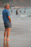 Western Man at the Beach Varkala
