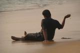 Sitting on the Beach Varkala 02