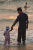 Toddling into the Sea Varkala