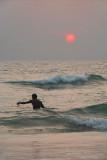Wading Fisherman at Sunset Varkala