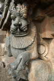 Carved Lion at Chennakesava Temple Belur