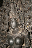 Large Breasted Carved Figure Chennakesava Temple Belur