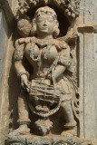 Carved Stone Figure of Girl with Drum Belur
