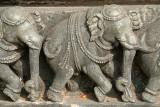Carved Stone Elephants Belur