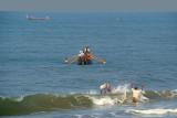 Fishermen off Black Beach Varkala