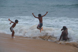 Jumping Over Waves Varkala