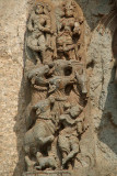 Carved Cows at Chennakesava Temple Belur