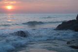Water on the Rocks at Sunset Varkala