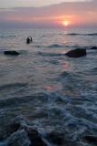 Wading Fisherman at Sunset Varkala 03