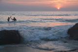 Wading Fisherman at Sunset Varkala 02