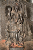 Figure at Foot of Larger Statue Chennakesava Temple Belur 02