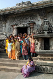 Visiting Girls in Temple Courtyard Belur 02