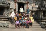 Visiting School Children in Temple Courtyard Belur