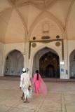Admiring the Jama Masjid Bijapur