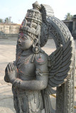Statue of Garuda Courtyard of Chennakesava Temple Belur