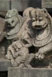 Stone Lion Mauling Small Figure