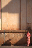 Sweeping Woman and Shadow Gol Gumbaz