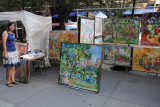Artist Sonia Grineva at the Washington Square Art Show