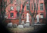 Old St Patrick's Church Graveyard through the Gate Keyhole