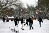 Winter in Washington Square Park