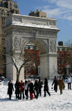 Washington Square Arch & School Group