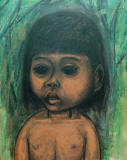 Young Boy - 16 x 12.5 inches, unframed