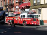 NY Fire Truck Picking Up Groceries for the Fire House