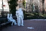 Sheridan Square Park - Segal's Gay Pride Sculptures