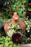 Terracotta Hen Planter Arrangement
