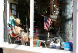 Bar, Restaurant & Store Window at Hudson Street