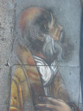 Sidewalk Painting - Prophet