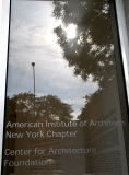 American Institute of Architecture - NYC Chapter Window