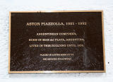 Composer Astor Piazzolla Marker